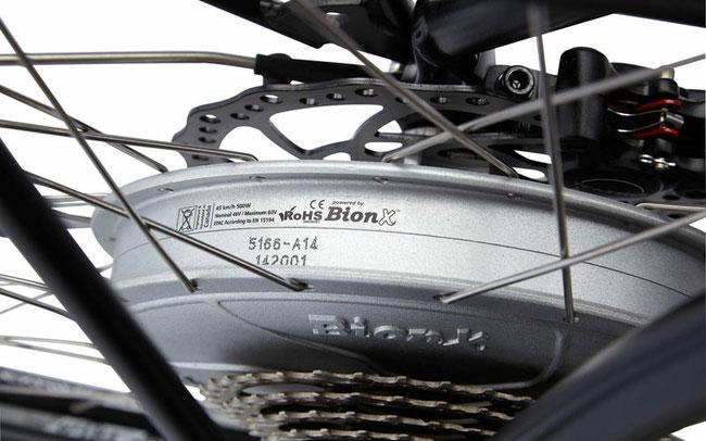 Wheeler E-Allterra Speed: der 500W Bion-X Motor © Sports Nut/Dennis Mehmedbegovic