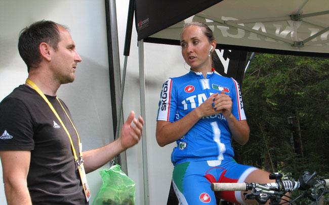 Team-Manager Edmund Telser und Eva Lechner ©Josef Bernhart