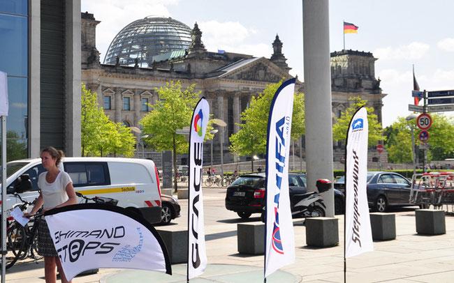 Der ZIV zeigt häufig Flagge in der Hauptstadt Berlin ©ZIV
