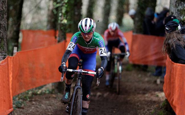Foto (Anton Vos): Eva Lechner Fünfte beim Heimweltcup in Fiuggi