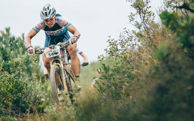Sabine Spitz beim Cape Epic 2017 © Ashley Coetzer