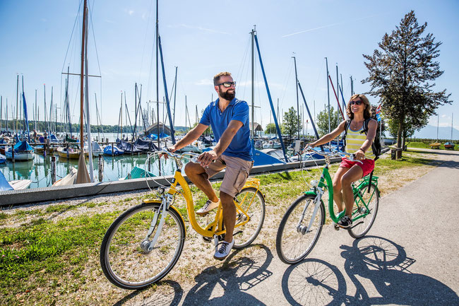 Beach-Cruising am Chiemsee ©Chiemgau Tourismus