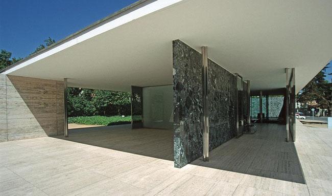 Pavillon Barcelone Mies van der Rohe