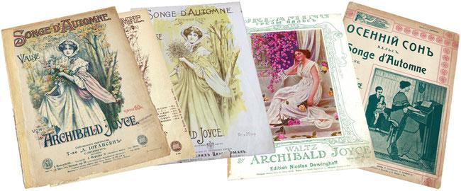 Осенний сон, вальс, Арчибальд Джойс, ноты для фортепиано