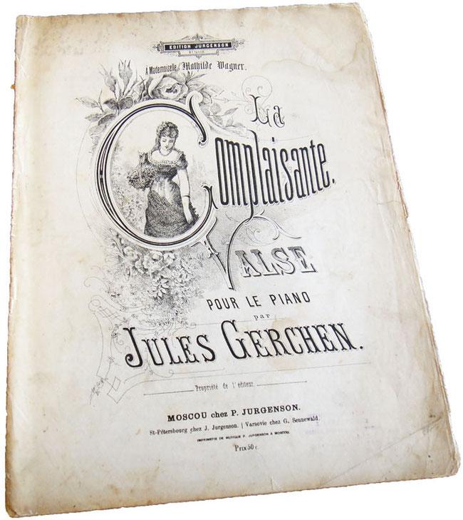 Старинные ноты для фортепиано - вальс La Complaisante