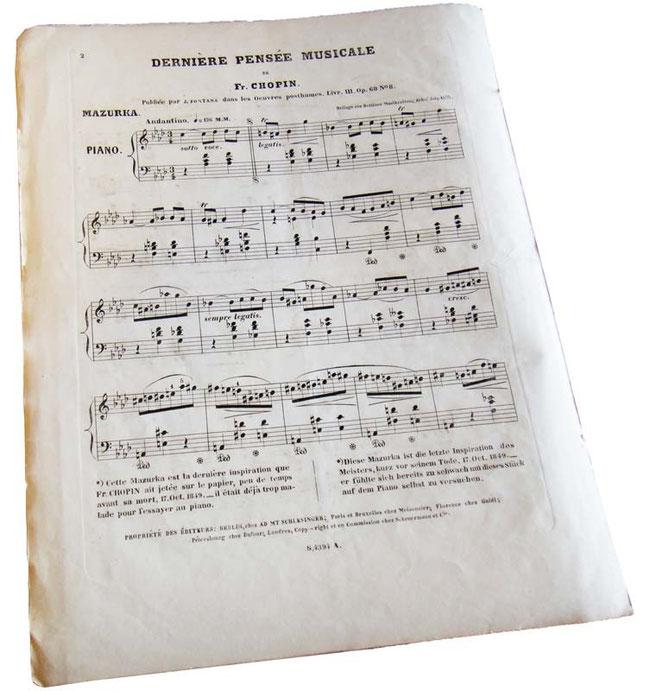 Шопен, Мазурка фа-минор опус 68 № 4, антикварные ноты для фортепиано