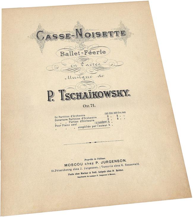 Щелкунчик, балет Чайковского в переложении автора, ноты, Юргенсон, обложка, фото