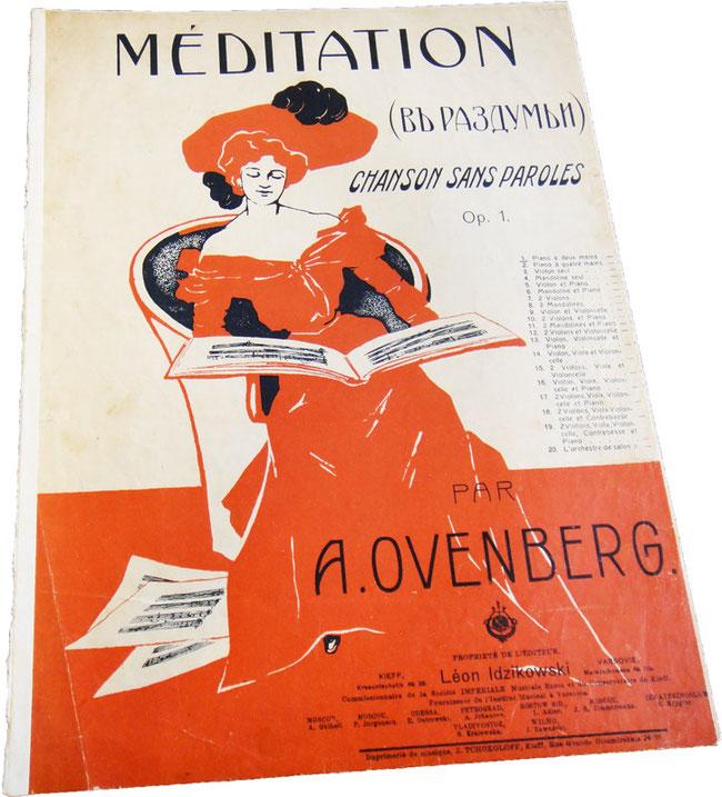 Медитация, В раздумье, Овенберг, нотная обложка