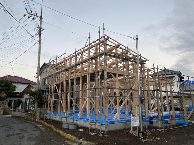 建て方(プレカット在来工法)