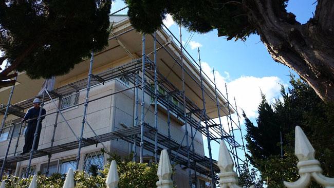 外壁塗装用足場組