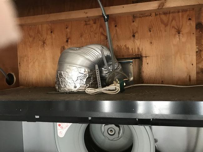 キッチン換気扇手抜き工事
