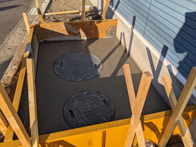 浄化槽天端土間コンクリート
