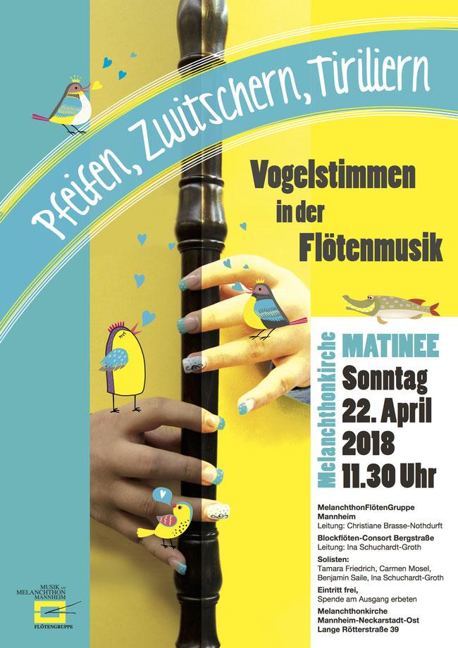 Flötenmatinee Sonntag 22. April 2018