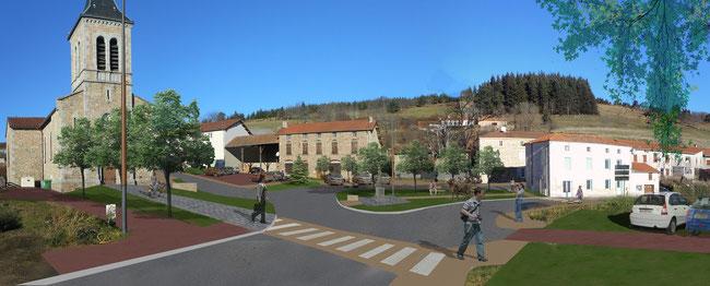 paysage conception coeur de bourg