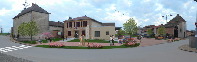 jardin mairie Roanne stationnement place ginkgo paysagiste
