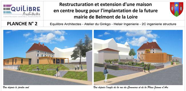 Photomontage paysagiste atelier du ginkgo loire mairie aménagement