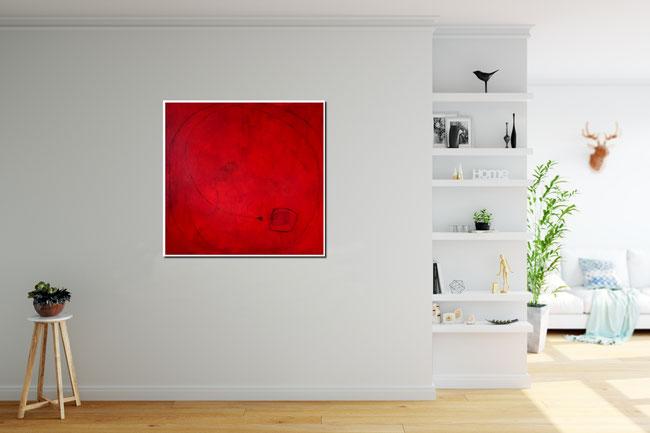 rotes bild im Atelier