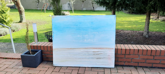 Bild abstrakt in hellblau pastell