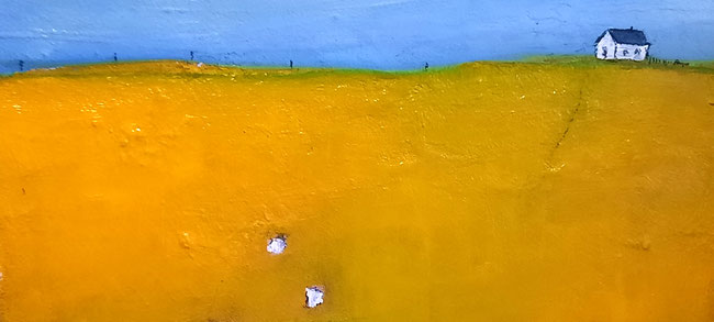 Bild abstrakt in saharagelb detail