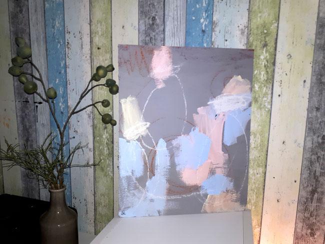 Chorprobe II - hellblau rosa grau