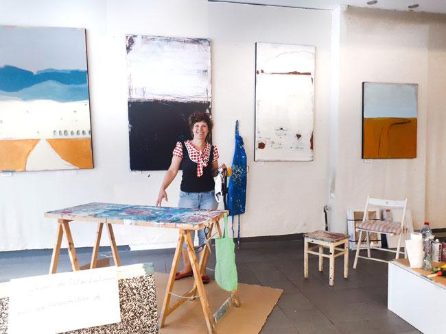 schlosscarree braunschweig Künstlerin malt live