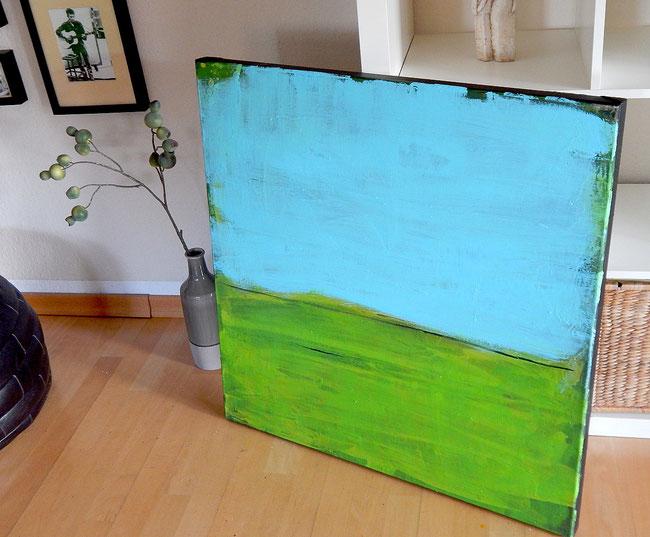 grün blaues abstraktes Bild - Landschaft