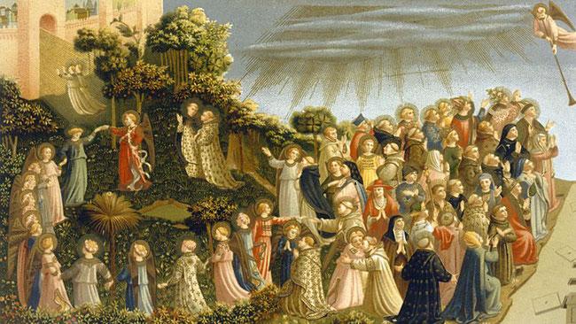 La ronde des saints (détail du Jugement dernier) de Fra Angelico - couvent San Marco, Florence