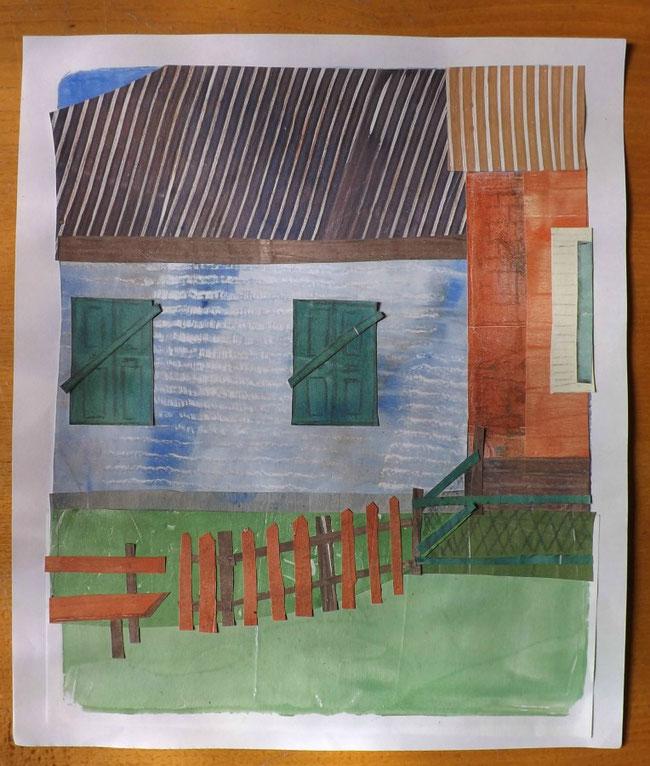 Farbenfrohe Häuser in Taganrog
