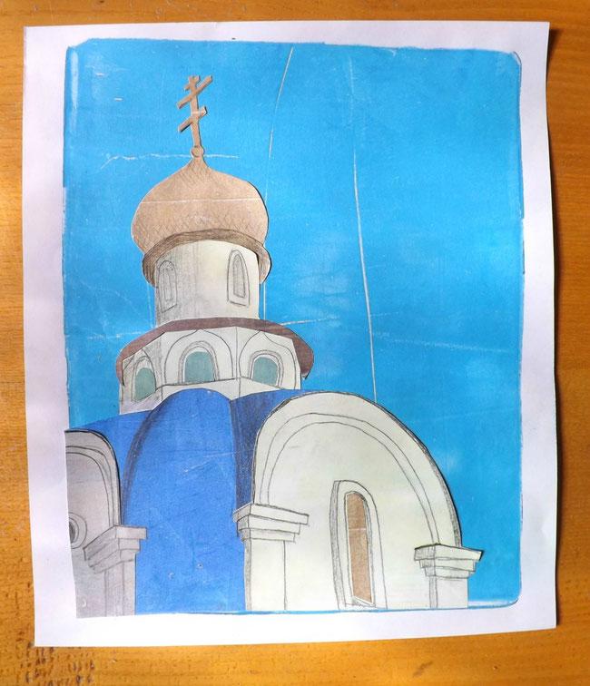 Taganrog - Die neuerbaute Kirche am alten Bahnhof