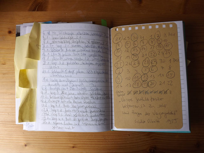 Das Schreiben beginnt, ich halte jeden Schritt fest und kringle jeden Masterarbeitstag ein: Erfolgstagebuch.