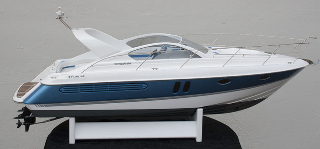 RC-Boat Fairline Targa 34 in a scale of 1/10 for a coustomer