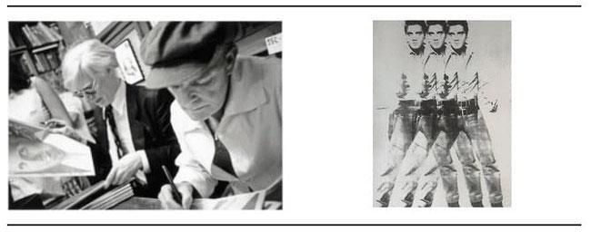 Warhol Truman Capote et Elvis