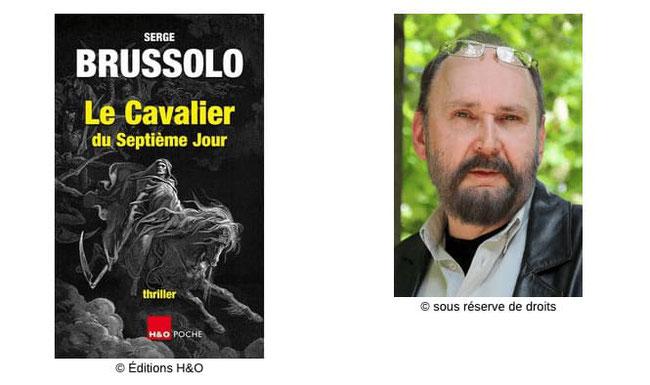 Couverture Le Cavalier du septième jour  #ÉcrivainCulte #Thriller #Noir #Fantastique #Peur #Manipulation #Légendes #Croyances #Péchés Serge Brussolo