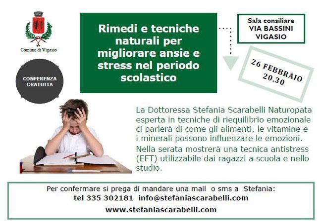 Rimedi e tecniche naturali per ansie e stress nel periodo scolastico con Stefania Scarabelli