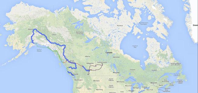 ~5'000km à vélo     ~2'000km en voiture     ~1'100km en train     ~1'300km en bateau