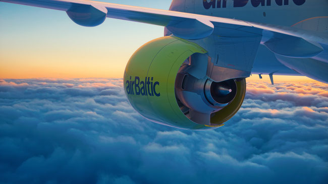 AirBaltic lėktuvas Bombardier CS300