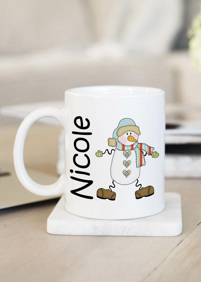 Tasse Schneemann mit Namen