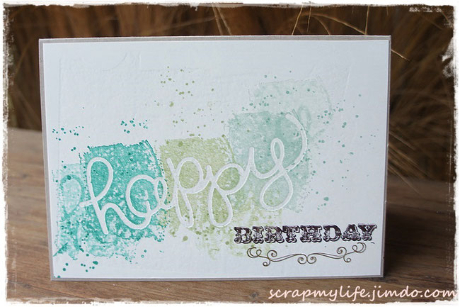 stampin up - Hello you Thinlits - work of art - carousel birthday