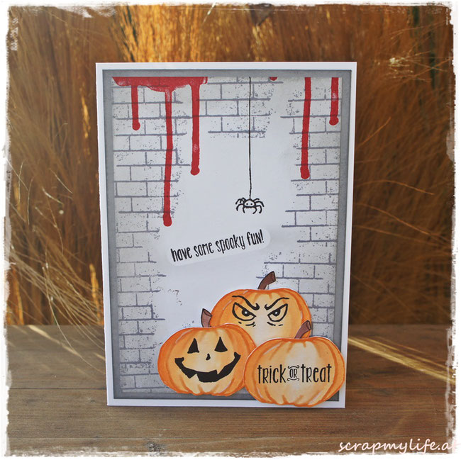 stampin up - halloween- ghoulish grunge - jar of haunts