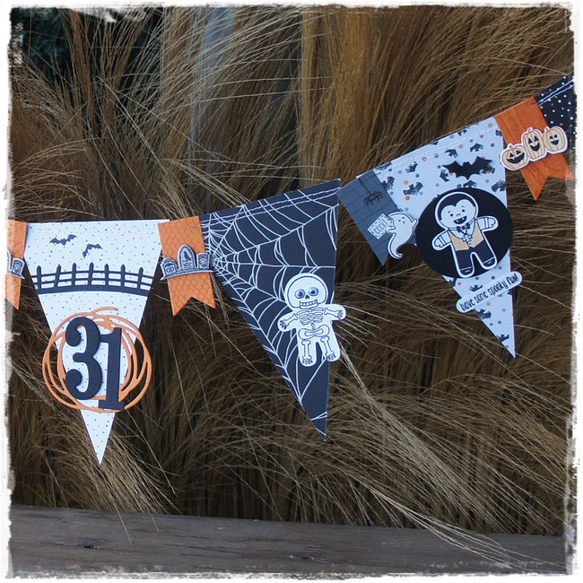 stampin up - halloween- gruselnacht - girlande - cookie cutter halloween - spooky fun