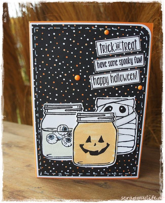 stampin up - halloween - gruselnacht - jar of haunts