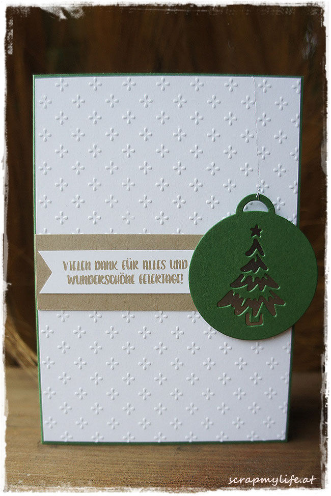 stampin up - weihnachten - merry tags framelits