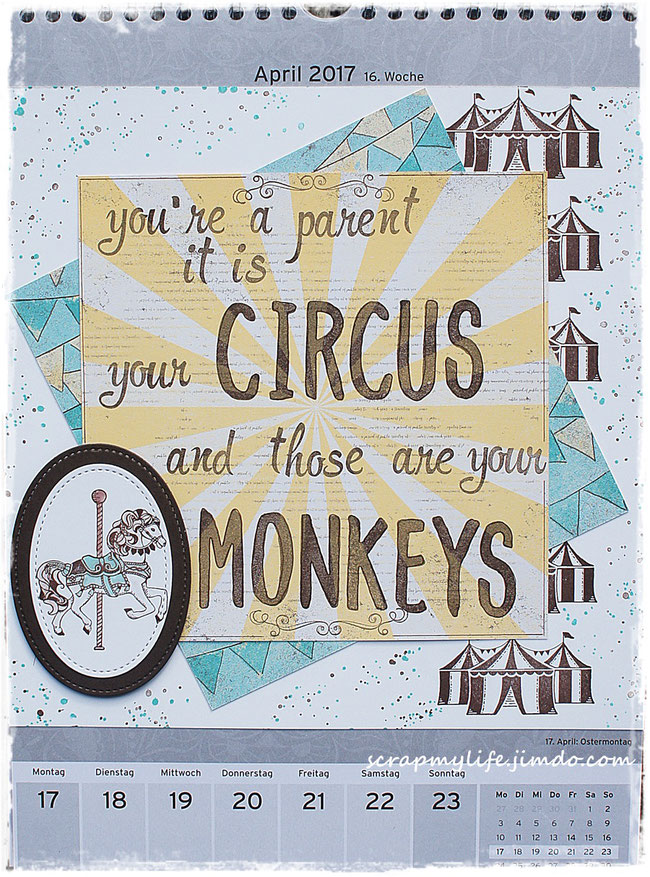 stampin up - carousel birthday - DP Cupecakes und Karusells