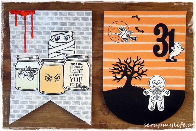 stampin up - halloween- gruselnacht - girlande - cookie cutter halloween - spooky fun - jar of haunts