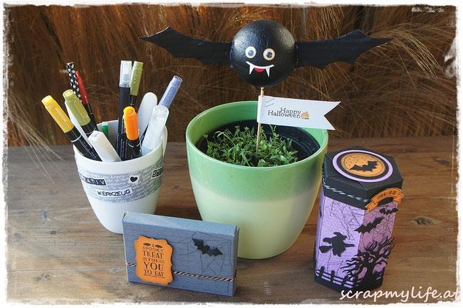 stampin up - halloween- ghoulish grunge - edgelits halloween-szenerue