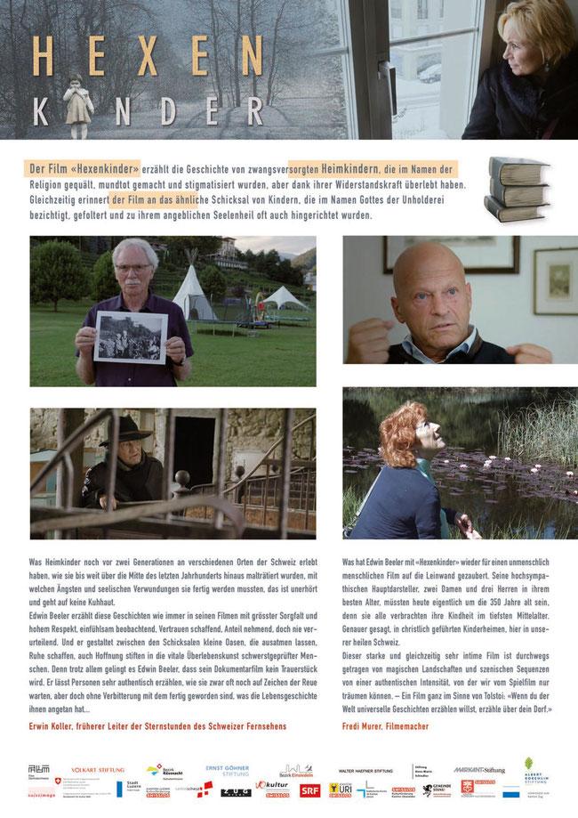 «Hexenkinder» - Statements von Fredi Murer und Erwin Koller