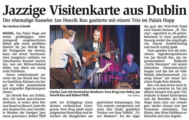 Jan Henrik Rau Trio im Palais Hopp, Kassel, 2017: Jan Henrik Rau, Sven Krug, Robert Pfaff