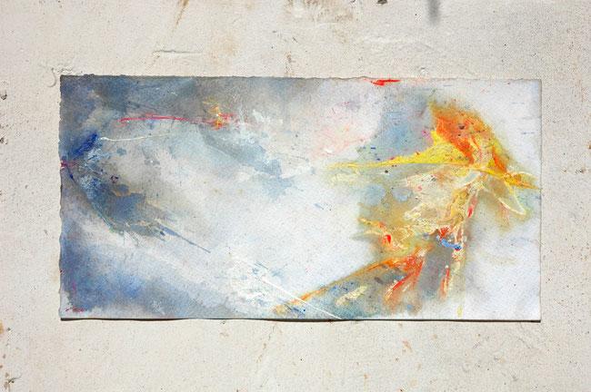 """Heartbeat"" 2013 • acrylic on paper • 25 cm x 50 cm"