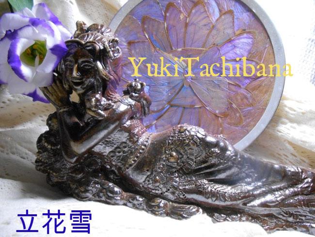 楽々土像 彫塑 楽園の女神 立花雪 YukiTachibana 炎と楽園のアート
