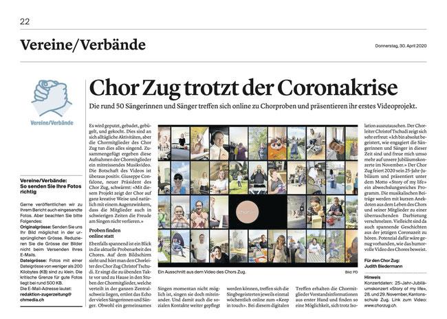 Zuger Zeitung, 30.04.2020
